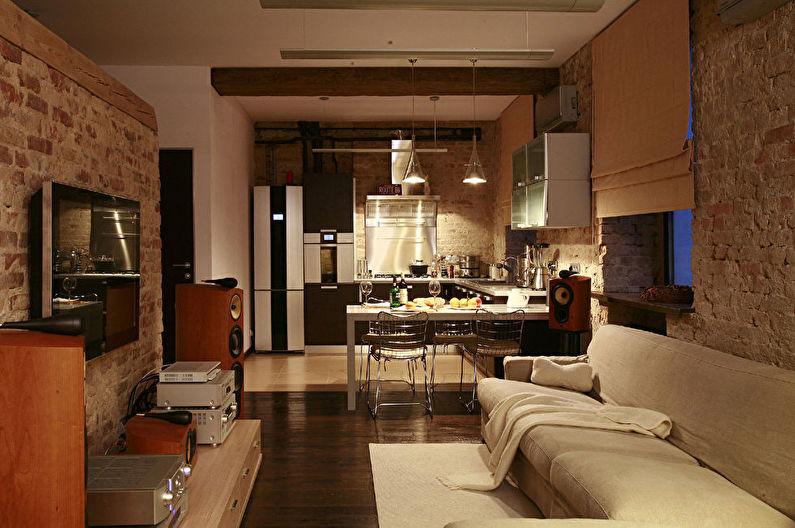 Дизайн кухни, совмещенной с гостиной - Освещение и подсветка
