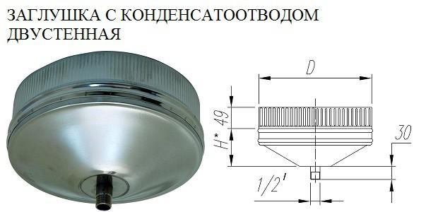 Заглушка с конденсатоотводом двустенная