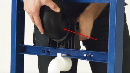 Установка колена отвода