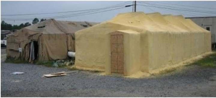 Обшивка палатки ППУ