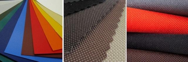 Ткани, используемые для окантовки мягких окон: «Премиум» — ткань «Oxford 600», и «Люкс» — ткань «Velfi».