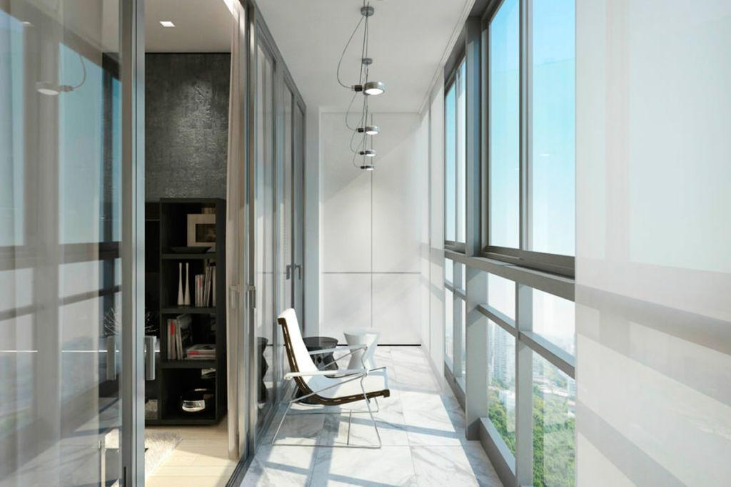 Пример объединения балкона с комнатой