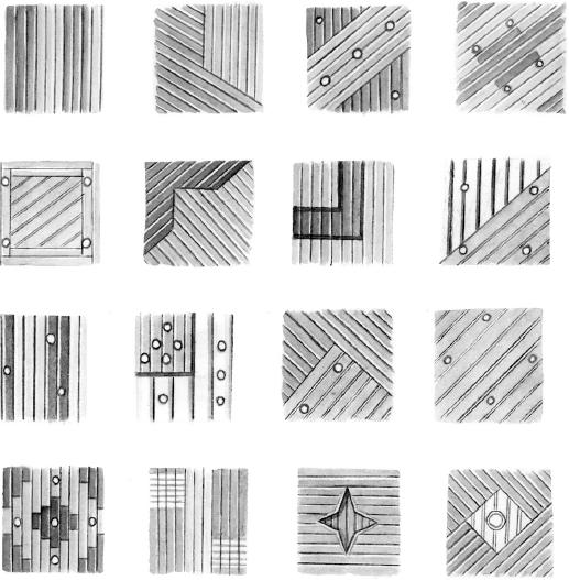 Декоративные комбинации из потолочных реек