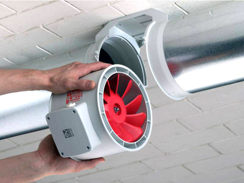 Правила установки канального вентилятора