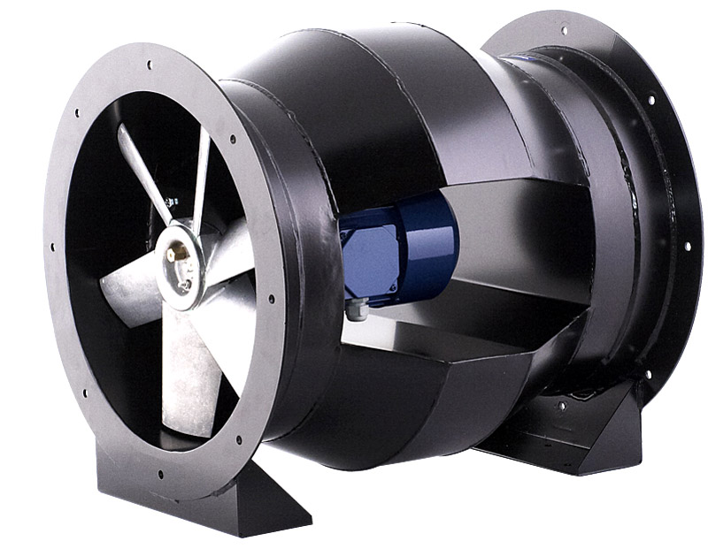 Канальный вентилятор осевого типа в разрезе