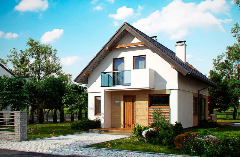 Жилой дом на дачном участке с выходом на улицу