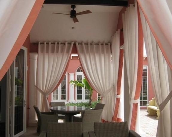 текстильные шторы для веранды
