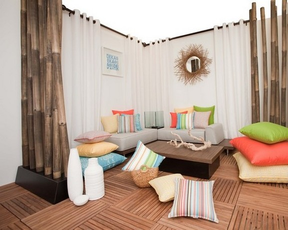 плотные брезентовые шторы для открытой веранды