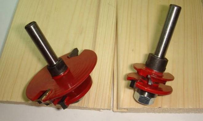 Фрезы для вагонки, как правило, являются разборными для замены режущей части или подшипника