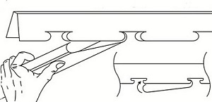 Сам процесс монтажа реек – наверное, самая простая операция.