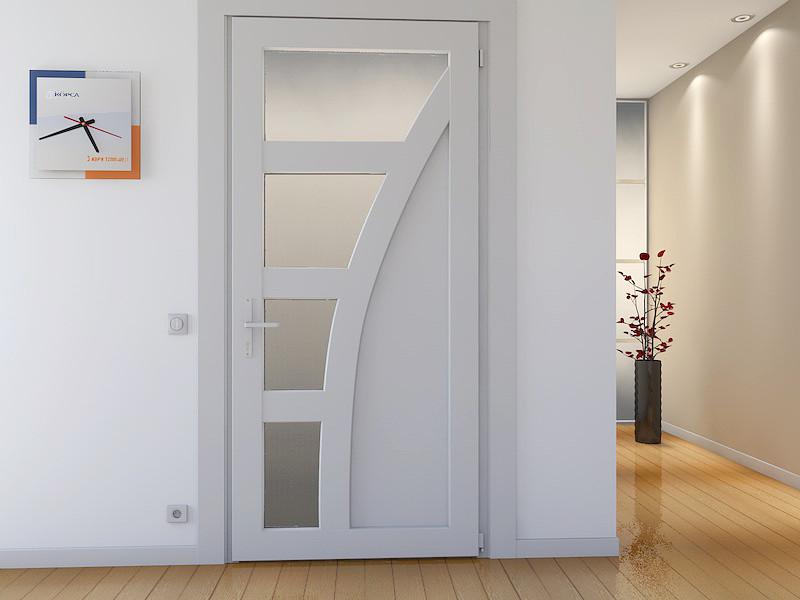 Дверное полотно металопластиковой двери
