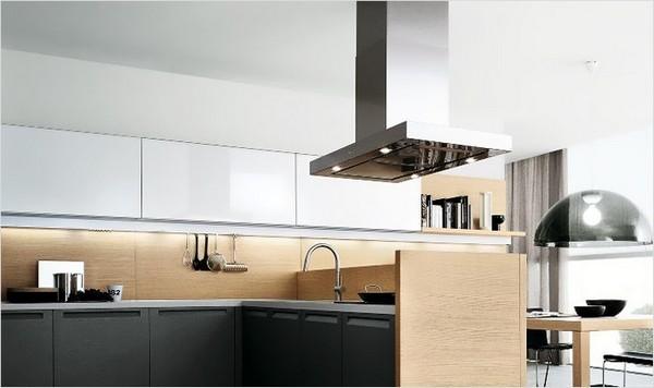 потолочная вытяжка для кухни островная фото
