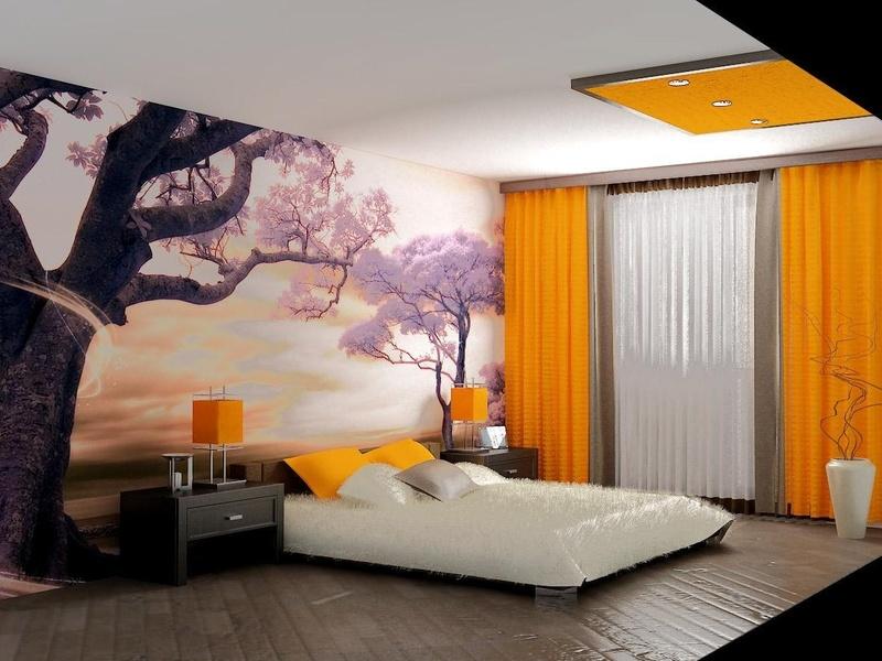 Простой ремонт спальни дизайн