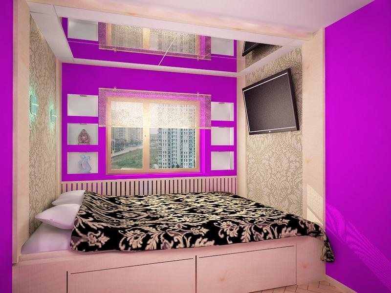 Простой ремонт спальни проект