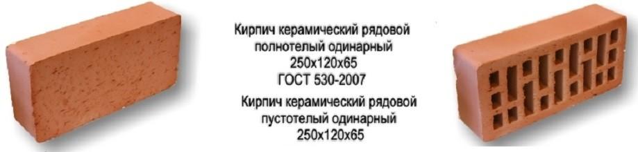 Размер кирпича и его качественные характеристики определяются ГОСТ 530-2007