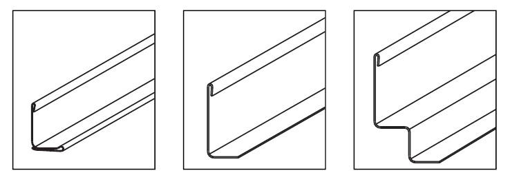 Форма несущего (настенного) профиля реечного потолка