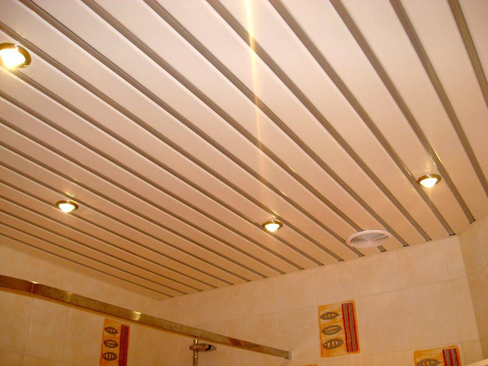 Смонтированный потолок с точечным освещением