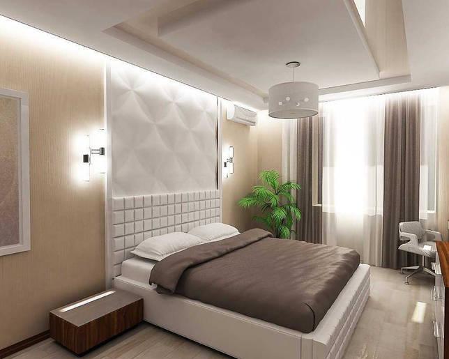 вариант стильного декорирования стиля спальни
