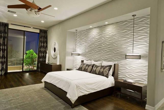 вариант яркого декорирования дизайна спальной комнаты
