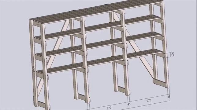 Чему равна высота деревянного стеллажа для книг: как рассчитать её, стандарты