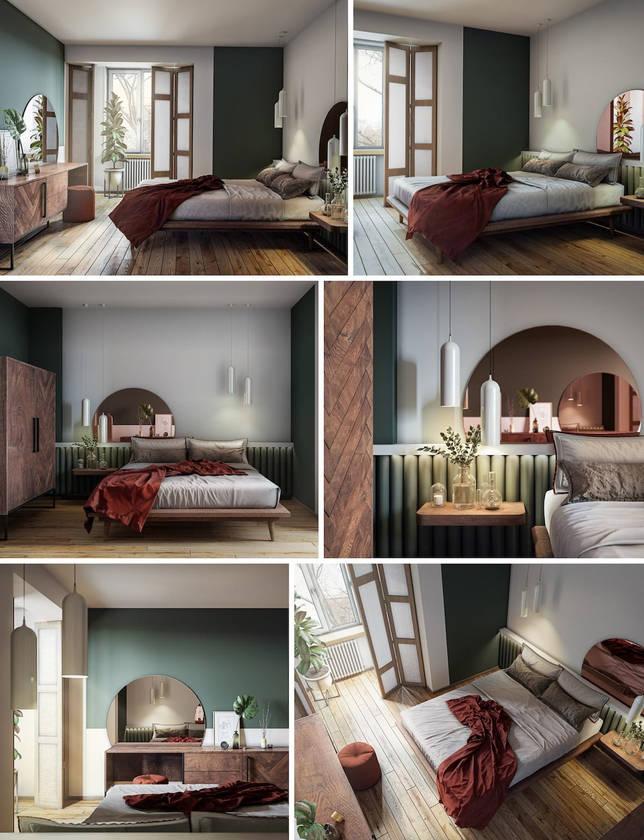 дизайн интерьера спальни фото 53