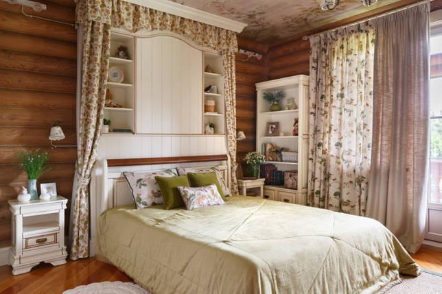 Спальня в стиле кантри: примеры в интерьере, особенности оформления