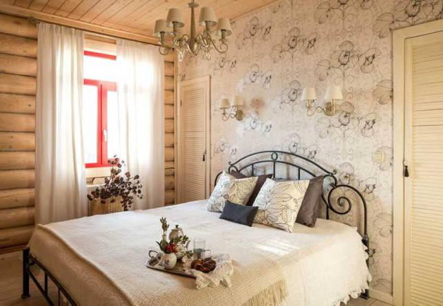 Дизайн спальни в стиле кантри: особенности, фото комнат