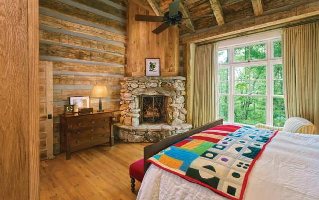 дизайн интерьера спальни в деревенском стиле