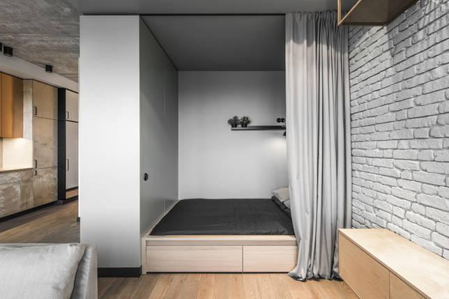 кровать в нише дизайн