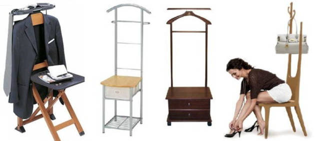 Напольная вешалка со стулом и тумбочкой - для полного использования пространства прихожей