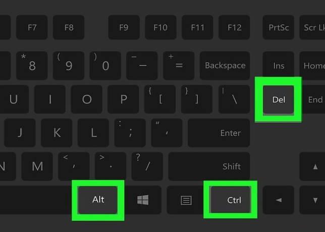 Нажимаем одновременно сочетание клавиш «Ctrl+Alt+Delete»