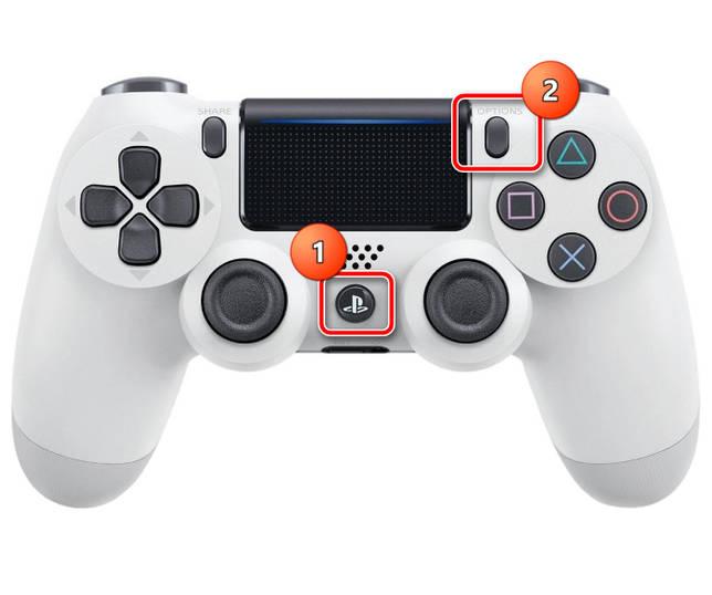 Использовать комбинацию кнопок для выключения геймпада PS4