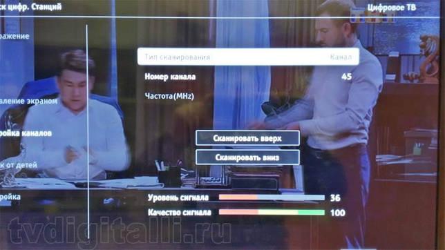 Цифровой сигнал на телевизоре