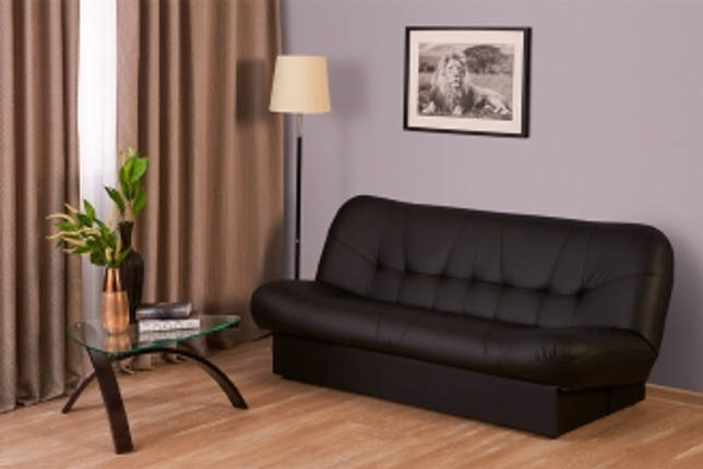 Кожаный диван-книжка без подлокотников