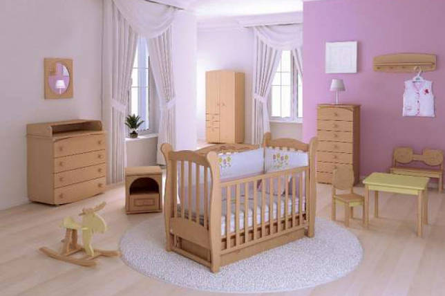 Расположение детской кроватки с маятниковым мехнизмом
