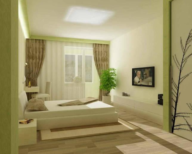 пример светлого дизайна изголовья кровати