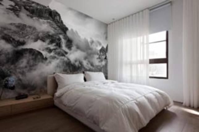 фотообои в спальной зоне