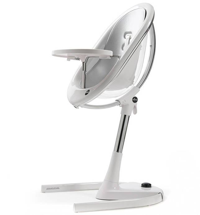 Стильный стульчик Mima Moon, изготовленный из металла и поликарбоната