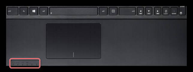 Световые индикаторы ноутбука