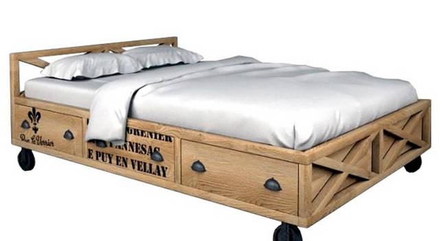 Дизайнерская кровать на колесиках