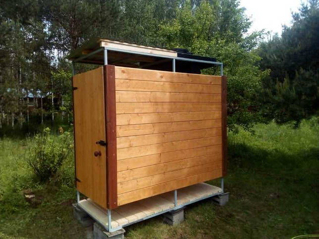 Летний душ на даче своими руками - подбор материалов и изготовление