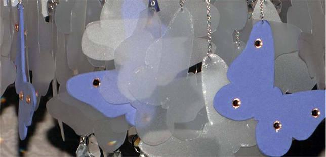бабочки из бумаги для люстры