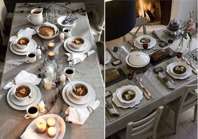 Сервировка стола в рустикальном стиле