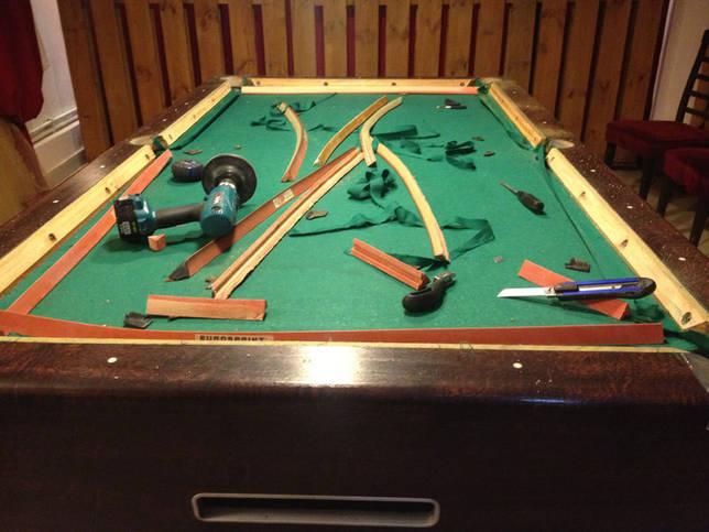 Перетяжка бильярдного стола: как самостоятельно перетянуть стол