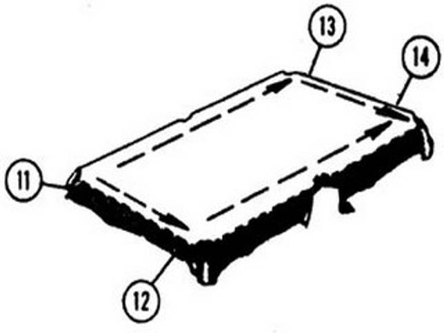 Сукно равномерно натягивается по бортам стола.