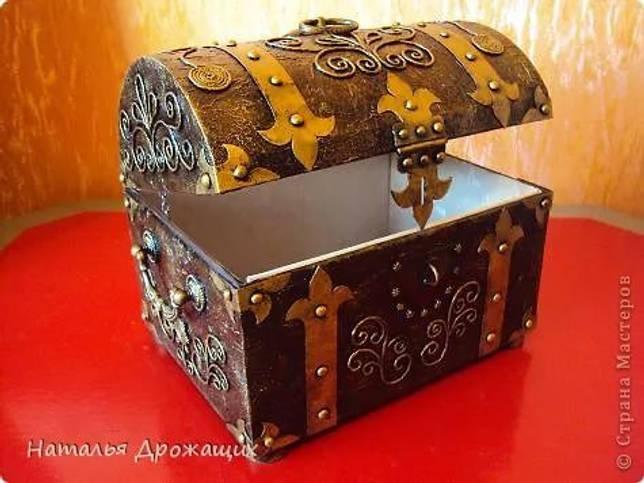 Пиратский сундук своими руками из картона с фото и видео