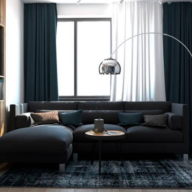 Дизайн тёмной гостиной