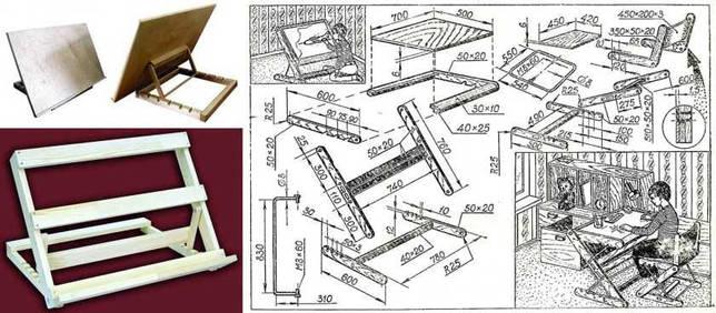 Пюпитр своими руками: пошаговое изготовление конструкции