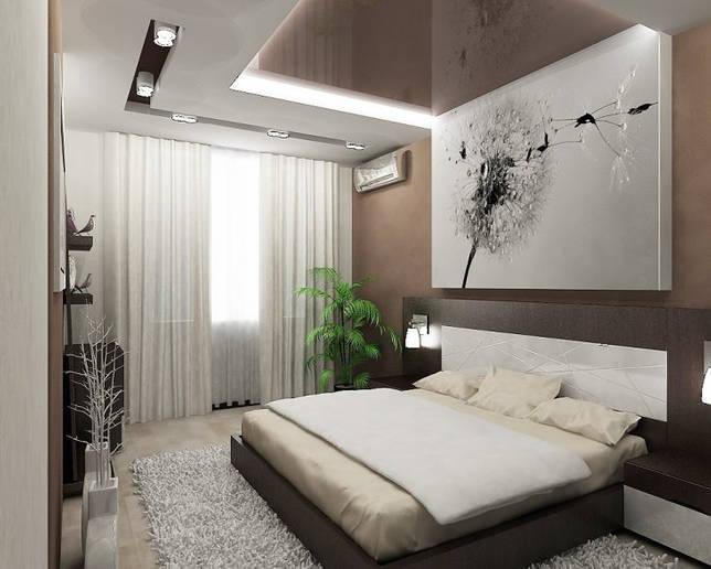 Спальня в голубых тонах: с белым, серым, бежевым, синим оттенком
