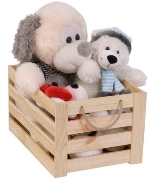 Самодельный ящик для игрушек
